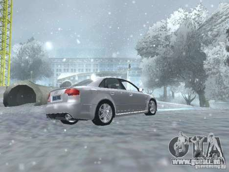Audi RS4 pour GTA San Andreas vue intérieure