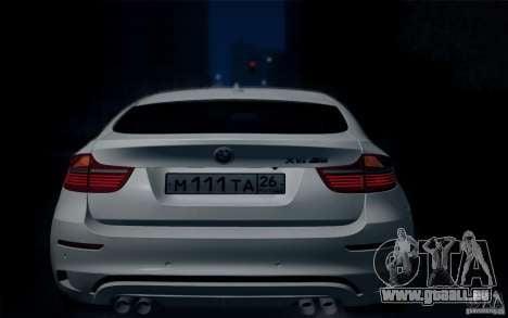 BMW X6M E71 pour GTA San Andreas vue arrière