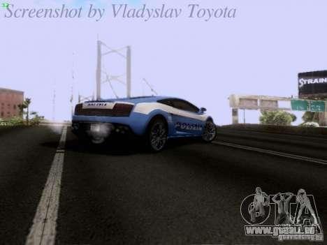 Lamborghini Gallardo LP560-4 Polizia für GTA San Andreas obere Ansicht