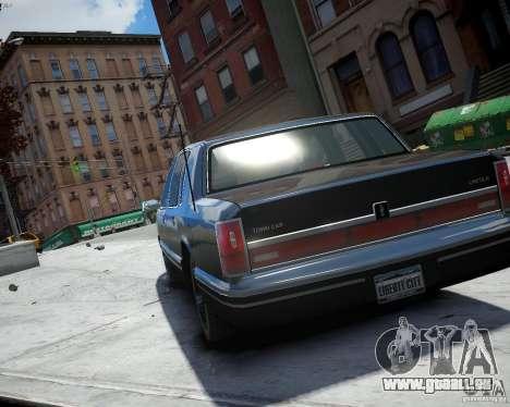 Lincoln Towncar 1991 pour GTA 4 est une gauche
