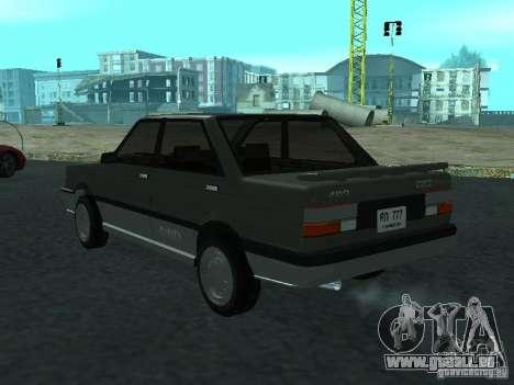 Nissan Sanny 1500 (B12) pour GTA San Andreas laissé vue