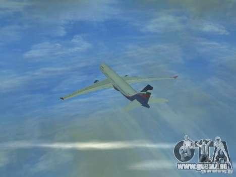 Airbus A330-300 Aeroflot pour GTA San Andreas laissé vue