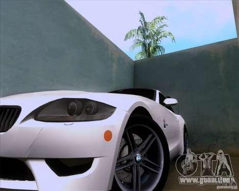 BMW Z4 M Coupe pour GTA San Andreas vue arrière