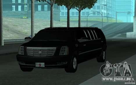 Cadillac Escalade 2008 Limo pour GTA San Andreas vue de côté