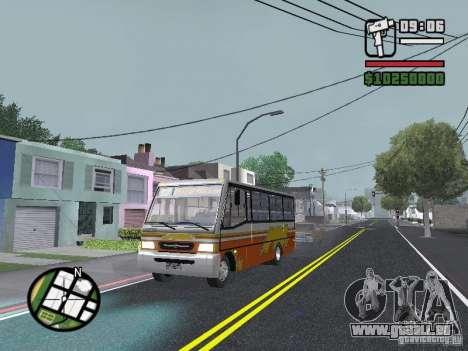 Ciferal Agilis M.Benz LO-814 BY GTABUSCL pour GTA San Andreas vue de dessus