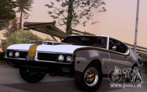Oldsmobile Hurst/Olds 455 Holiday Coupe 1969 pour GTA San Andreas sur la vue arrière gauche
