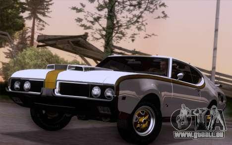Oldsmobile Hurst/Olds 455 Holiday Coupe 1969 für GTA San Andreas zurück linke Ansicht
