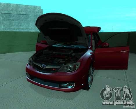 Subaru Impreza WRX STI Stock für GTA San Andreas Rückansicht