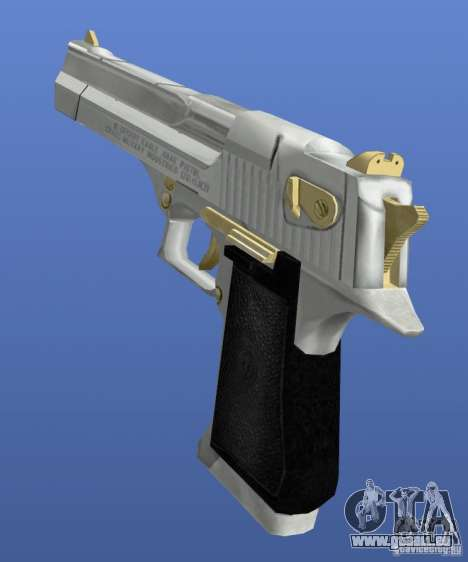 Desert Eagle Retex 1.2 Chrome and Gold für GTA 4