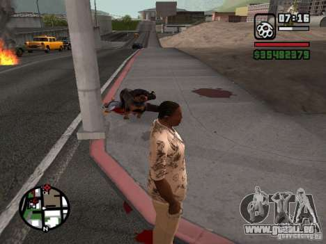 Rottweiler pour GTA San Andreas troisième écran
