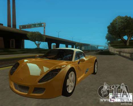 Ginetta F400 pour GTA San Andreas vue de droite