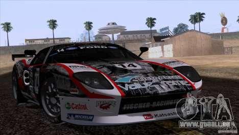 Ford GT Matech GT3 Series pour GTA San Andreas vue de dessus