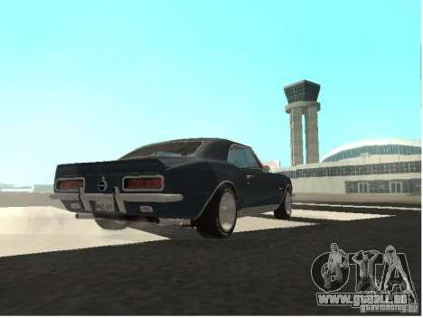 Chevrolet Camaro SS 396 Turbo-Jet für GTA San Andreas Rückansicht