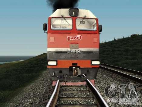 2te116u-0040 RZD pour GTA San Andreas laissé vue