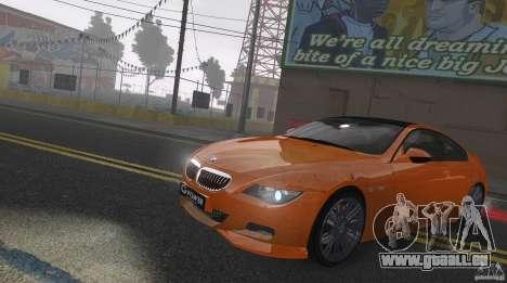 BMW M6 Hurricane RR pour GTA 4 est une vue de l'intérieur