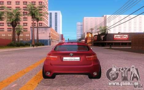 BMW X6 Tuning pour GTA San Andreas vue arrière