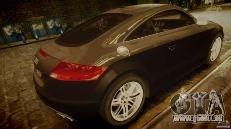 Audi TTS Coupe 2009 pour GTA 4 Vue arrière de la gauche