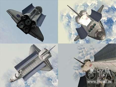 Space Shuttle pour GTA San Andreas vue de côté