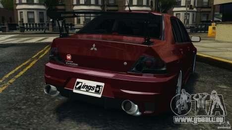 Mitsubishi Lancer Evolution 8 pour GTA 4 Vue arrière de la gauche