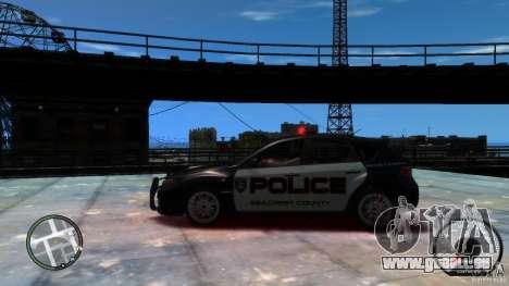 Subaru Impreza WRX STI Police pour GTA 4 est une gauche