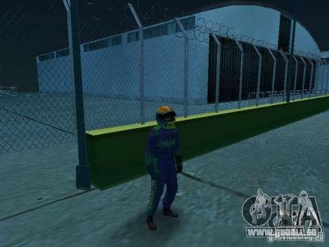 Falken Tire PED pour GTA San Andreas deuxième écran