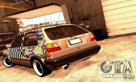 Volkswagen MK II GTI Rat Style Edition für GTA San Andreas rechten Ansicht
