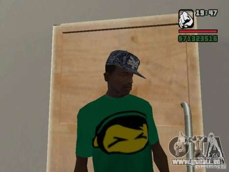 Casquette Zoo York pour GTA San Andreas deuxième écran