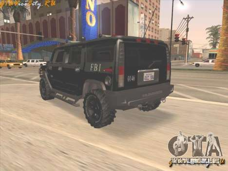 FBI Hummer H2 für GTA San Andreas linke Ansicht