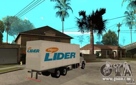 Camiun Hiper Lider pour GTA San Andreas vue de droite