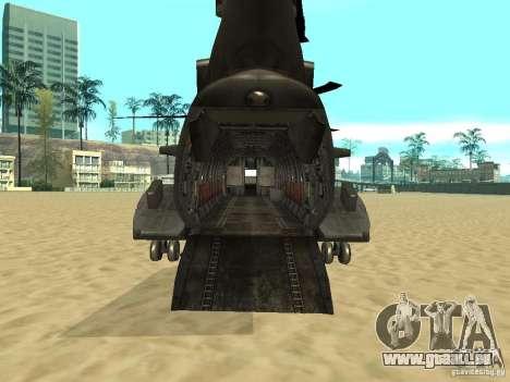 Hélicoptère Leviathan pour GTA San Andreas sur la vue arrière gauche