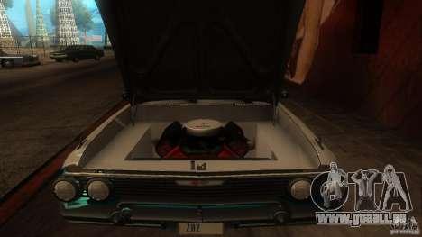 Chevy Impala SS 1961 pour GTA San Andreas vue intérieure