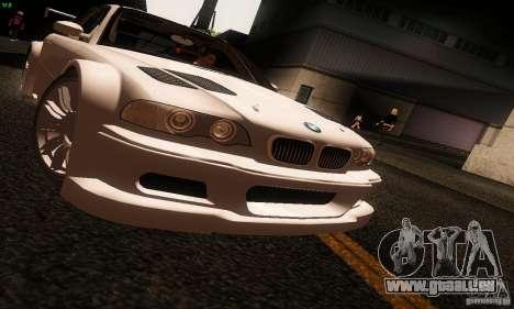 BMW M3 GTR v2.0 pour GTA San Andreas sur la vue arrière gauche