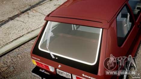 Volkswagen Rabbit 1986 pour GTA 4 vue de dessus