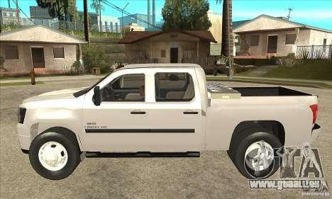 GMC 3500 HD Sierra Duramax Diesel 2010 pour GTA San Andreas laissé vue