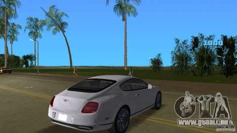 Bentley Continental Supersport pour une vue GTA Vice City de la droite