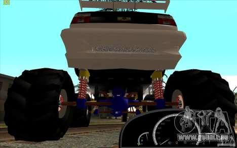 Jetta Monster Truck für GTA San Andreas zurück linke Ansicht