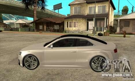 Audi S5 Quattro Tuning pour GTA San Andreas laissé vue