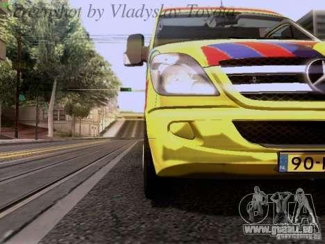 Mercedes-Benz Sprinter Ambulance pour GTA San Andreas vue intérieure