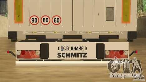 SchmitZ Cargobull für GTA San Andreas Seitenansicht