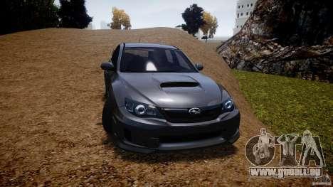 Subaru Impreza WRX STi 2011 pour GTA 4 est un côté