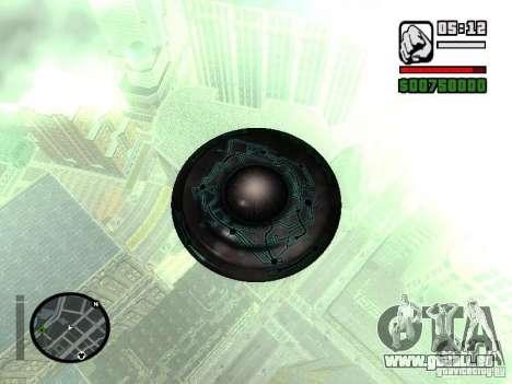 UFO für GTA San Andreas zurück linke Ansicht
