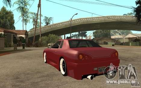 Elegy Modified für GTA San Andreas zurück linke Ansicht