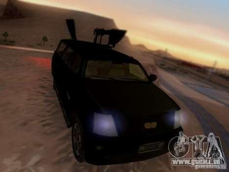 Suv Call Of Duty Modern Warfare 3 für GTA San Andreas zurück linke Ansicht