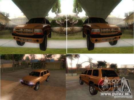 Dodge Durango 1998 pour GTA San Andreas vue de droite