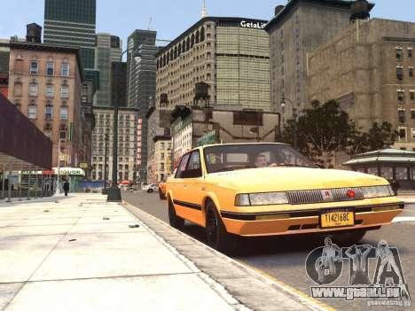 Oldsmobile Cutlass Ciera 1993 pour GTA 4 Vue arrière de la gauche