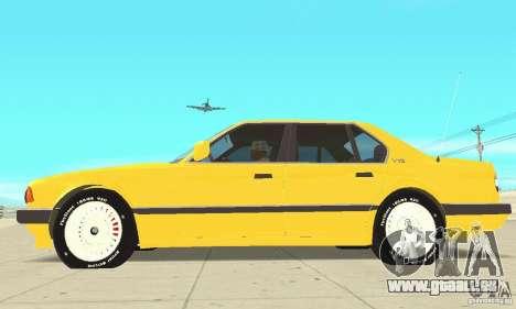 BMW 750I E32 für GTA San Andreas zurück linke Ansicht