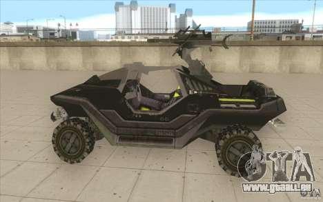 Halo Warthog pour GTA San Andreas laissé vue