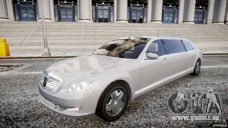 Mercedes-Benz S600 Guard Pullman 2008 pour GTA 4