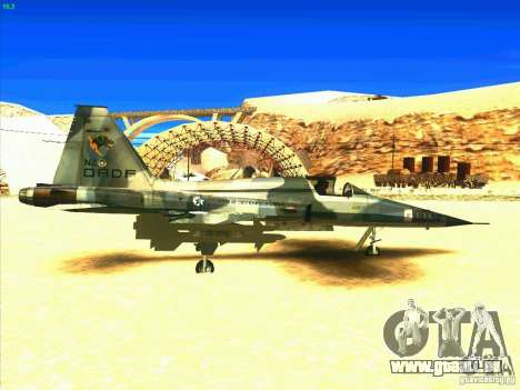 F-5E Tiger pour GTA San Andreas vue de droite