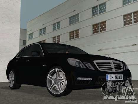 Mercedes-Benz E63 AMG pour une vue GTA Vice City de l'intérieur